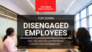 Top Level Management Breeds Lower Level Disengagement and Turnovers